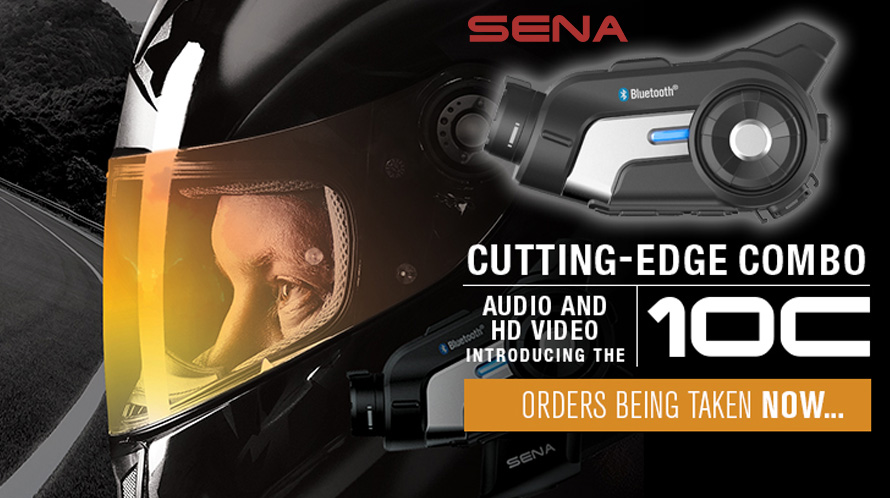 Sena 10C Motorcycle Bluetooth Camera & Communication System