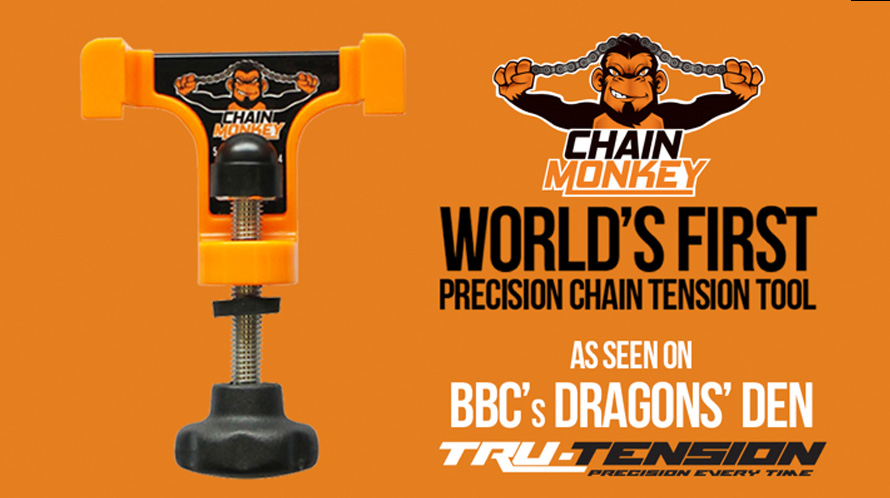 Chain monkey - The world's first tool designed to set the chain tension on your motorcycle