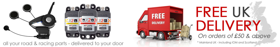 All your road and racing parts delivery to your door - Orders over £50 delivered Free