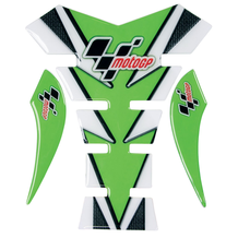 MotoGP Tank Pad - Green & Carbon