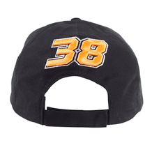 Mens Paddock Cap Bradley Smith 38 Black One-Size Back
