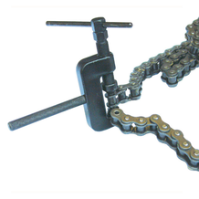 Heavy Duty Chain Cutter / Riveting Kit In Use