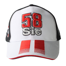 Mens Cap 58 Sic White/Black
