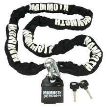 Mammoth Lock & Chain with Closed Shackle Lock