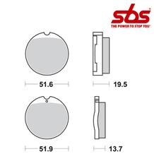 SBS 501 Brake Pad Kit