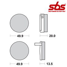 SBS 502 Brake Pad Kit
