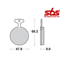 SBS 504 Brake Pad Kit