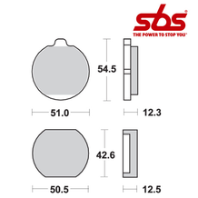 SBS 510 Brake Pad Kit