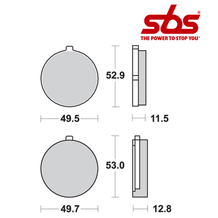 SBS 515 Brake Pad Kit