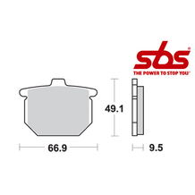 SBS 517 Brake Pad Kit