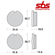 SBS 518 Brake Pad Kit