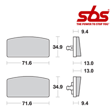 SBS 520 Brake Pad Kit
