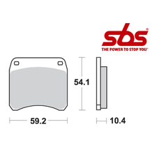 SBS 523 Brake Pad Kit