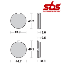 SBS 524 Brake Pad Kit