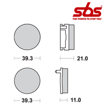 SBS 525 Brake Pad Kit