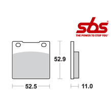 SBS 526 Brake Pad Kit