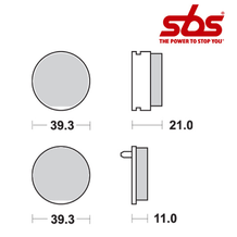 SBS 529 Brake Pad Kit