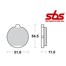 SBS 530 Brake Pad Kit