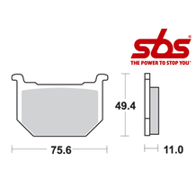 SBS 533 Brake Pad Kit