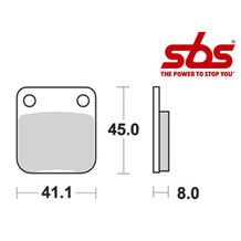 SBS 536 Brake Pad Kit