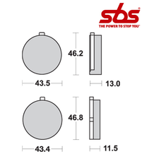 SBS 538 Brake Pad Kit