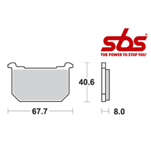 SBS 539 Brake Pad Kit