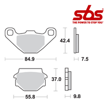 SBS 546 Brake Pad Kit