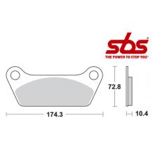 SBS 553 Brake Pad Kit