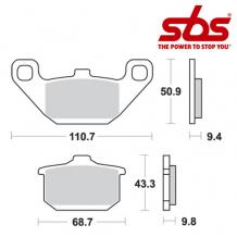 SBS 557 Brake Pad Kit
