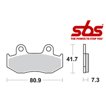 SBS 558 Brake Pad Kit