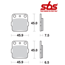 SBS 562 Brake Pad Kit
