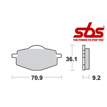 SBS 575 Brake Pad Kit