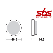 SBS 576 Brake Pad Kit