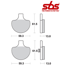 SBS 579 Brake Pad Kit