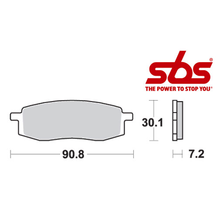 SBS 580 Brake Pad Kit