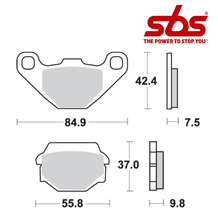 SBS 586 Brake Pad Kit