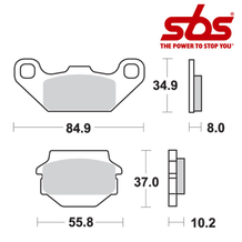 SBS 591 Brake Pad Kit