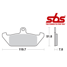 SBS 594 Brake Pad Kit