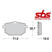 SBS 596 Brake Pad Kit