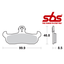 SBS 608 Brake Pad Kit