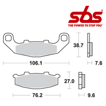 SBS 615 Brake Pad Kit