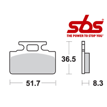 SBS 618 Brake Pad Kit