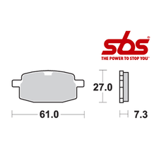 SBS 619 Brake Pad Kit