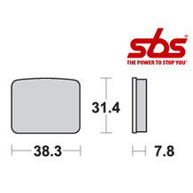 SBS 625 Brake Pad Kit