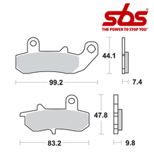 SBS 635 Brake Pad Kit