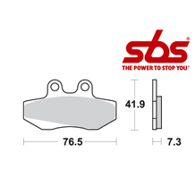 SBS 652 Brake Pad Kit