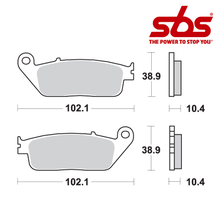 SBS 654 Brake Pad Kit