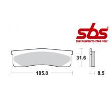 SBS 660 Brake Pad Kit