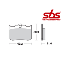 SBS 662 Brake Pad Kit