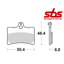 SBS 672 Brake Pad Kit